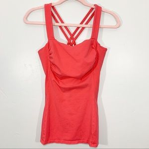 Express | Pink Sexy Stretch Cross Back Tank Top